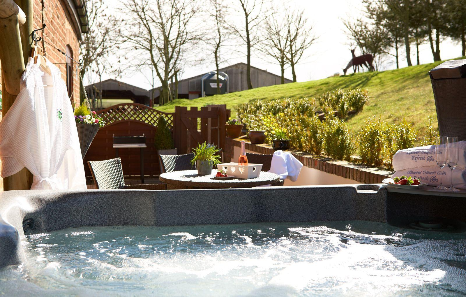 Enjoy the Jacuzzi in our cottages!
