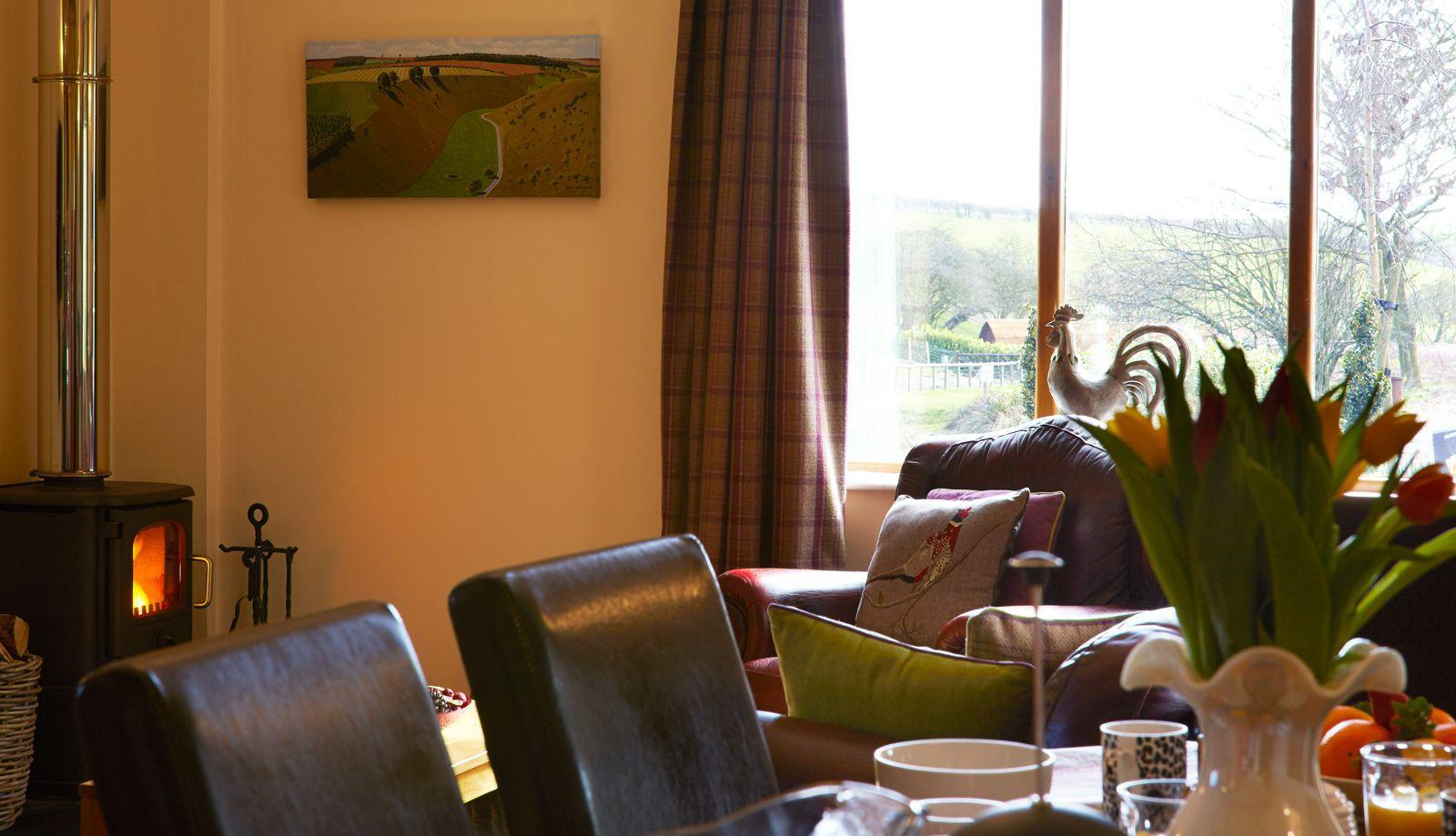 Beautiful views from the windows in Merry Dale Cottage