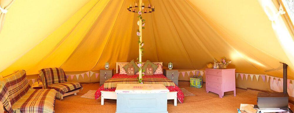 Deluxe Bell Tent at Humble Bee