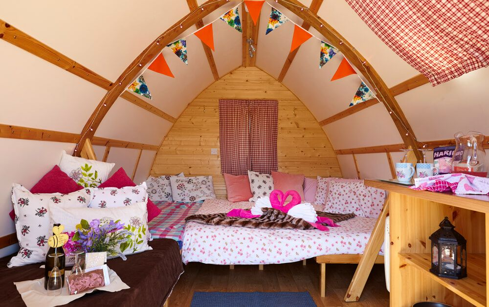 Our Big Chief cabins are very specious and you can order some extras* This is a Bespoke Full Glamping Package
