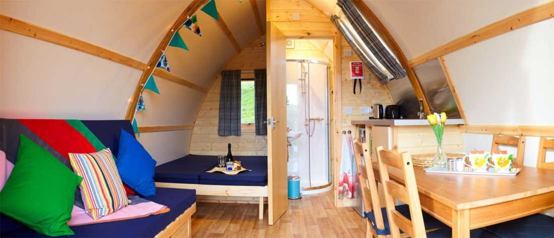 Interior of a Running Water Deluxe Wigwam