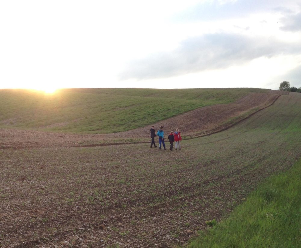 We are close to the Yorkshire Wolds National Trail.