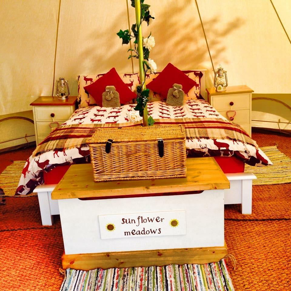 Sunflower Meadows Deluxe Bell Tent