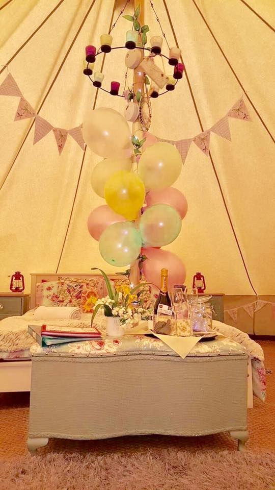 Celebration packs are available in the bell tents!*