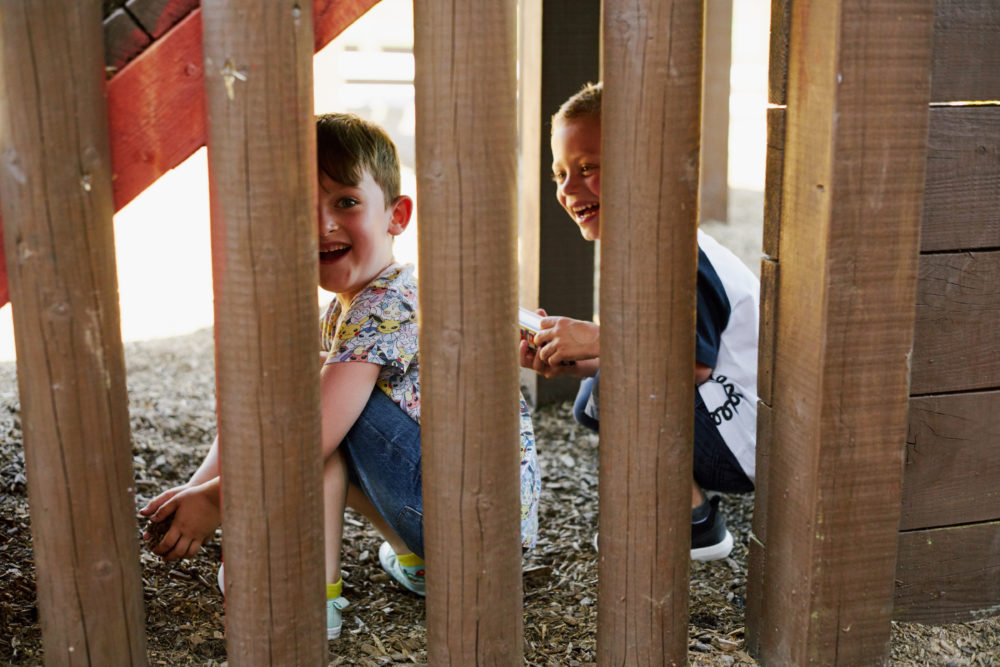 The children love the play park on site!