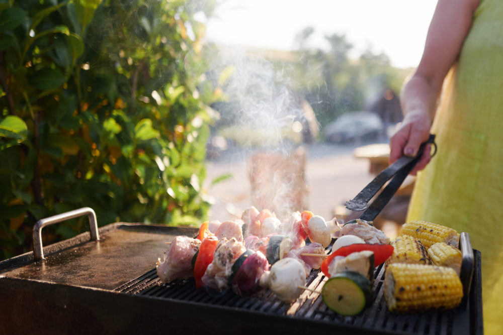 Enjoy a BBQ outside your wigwam!