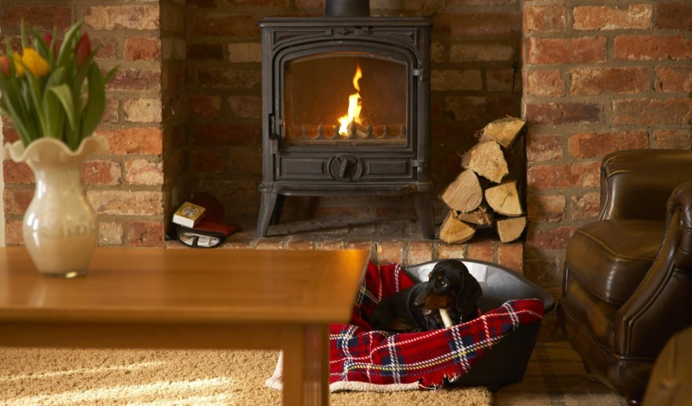 Humble Bee Cottage Fireplace