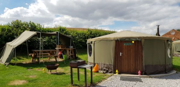Nomadic Glamping Yurts at Humble Bee Farm
